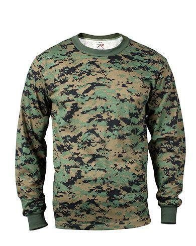 Rothco Långärmad T-shirt (Digital Woodland, 4XL)