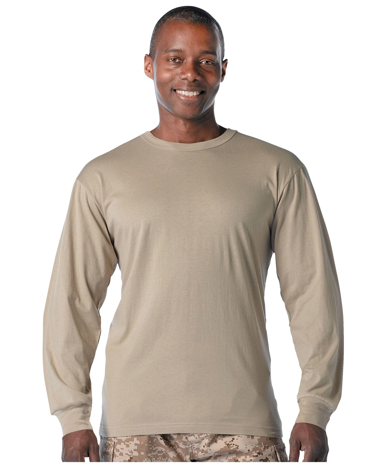 Rothco Långärmad T-shirt (Desert Sand, 2XL)