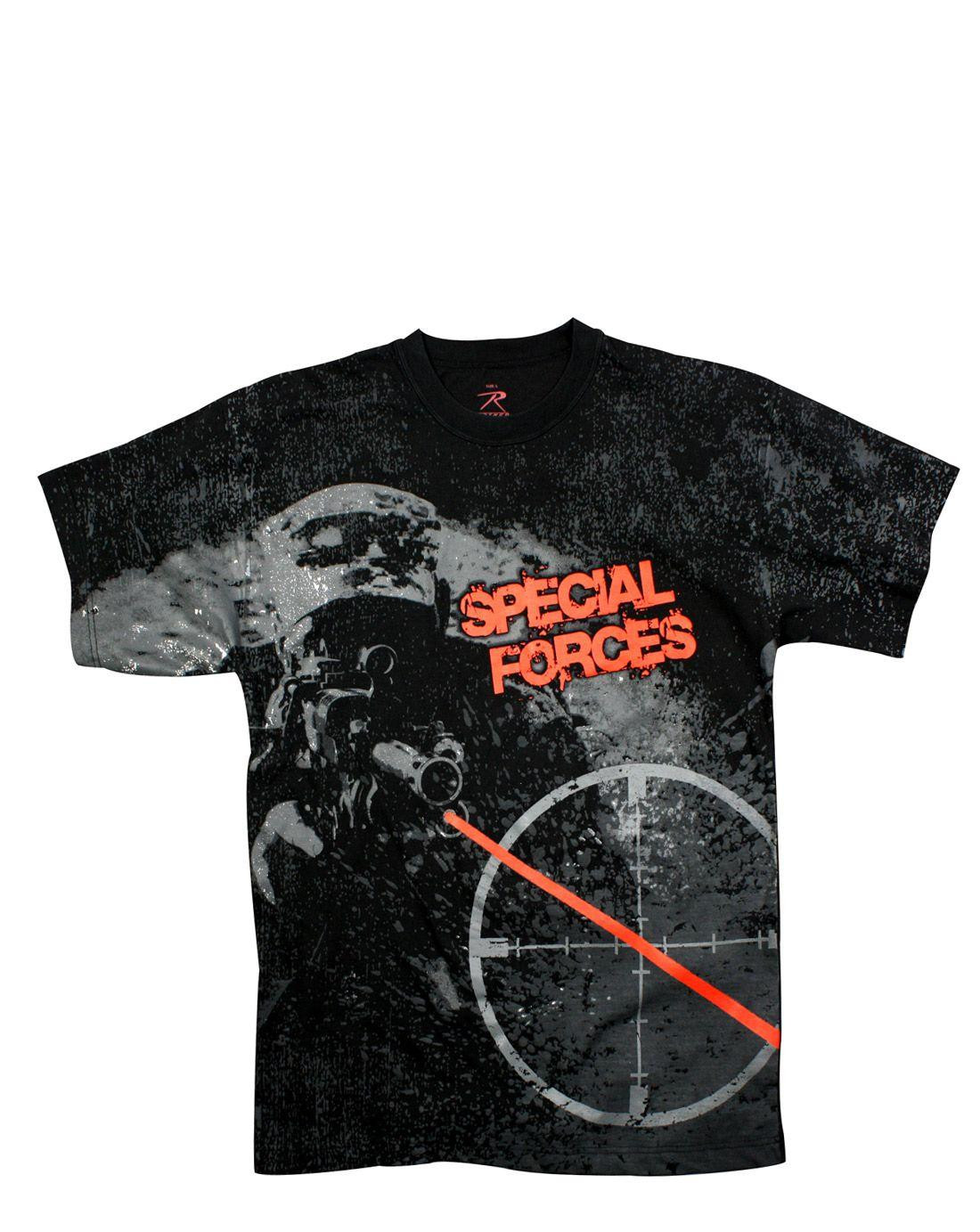 Rothco T-shirts (Svart / Special Forces, S)