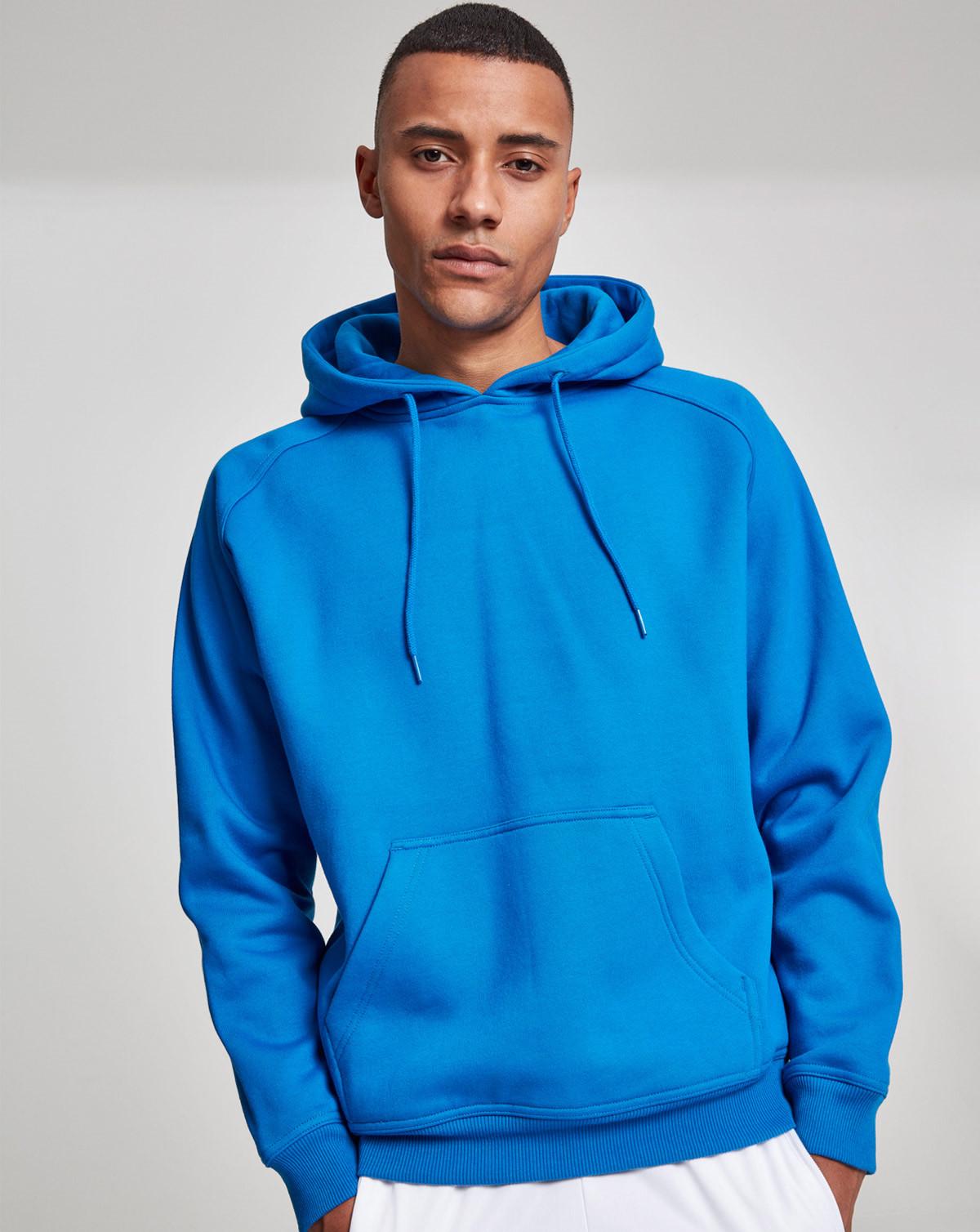 Urban Classics Blank Hoody (Cobalt Blue, 2XL)