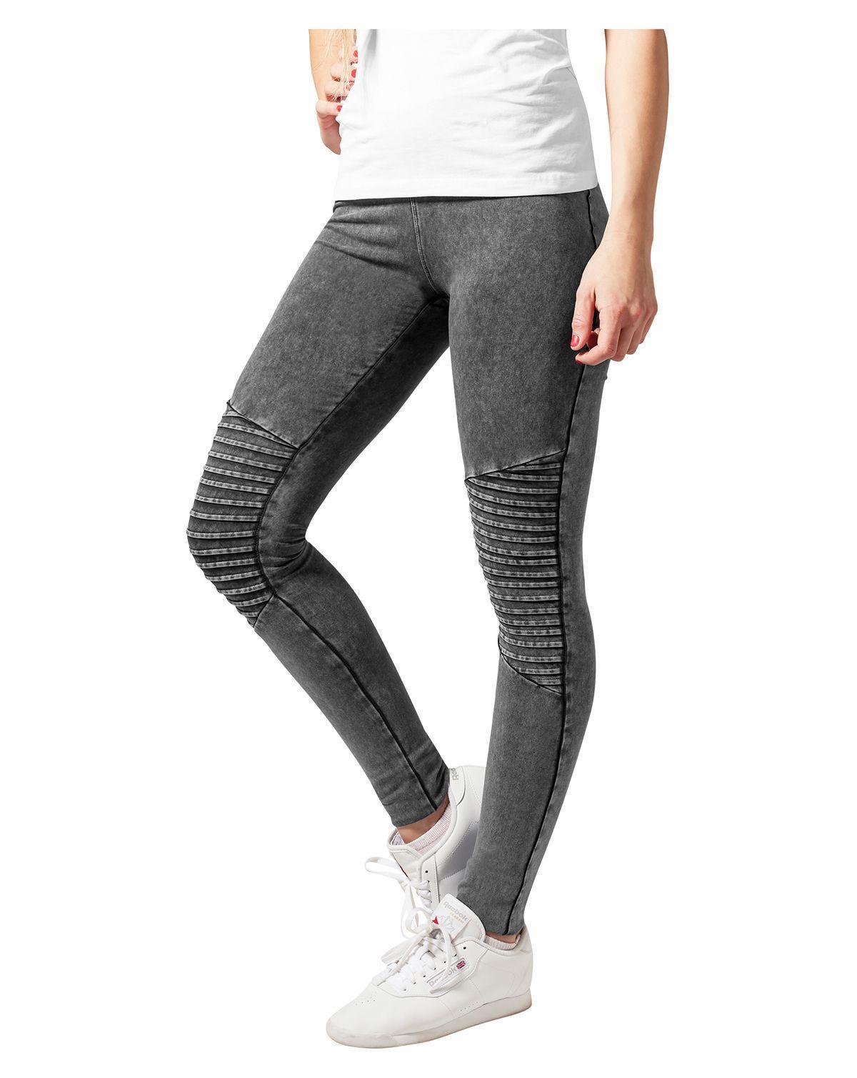 Urban Classics Denim Jersey Leggings (Dark Grey, XS)