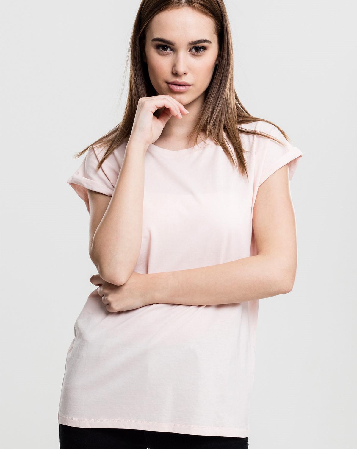 Urban Classics Ladies Extended Shoulder Tee (Lila, XS)