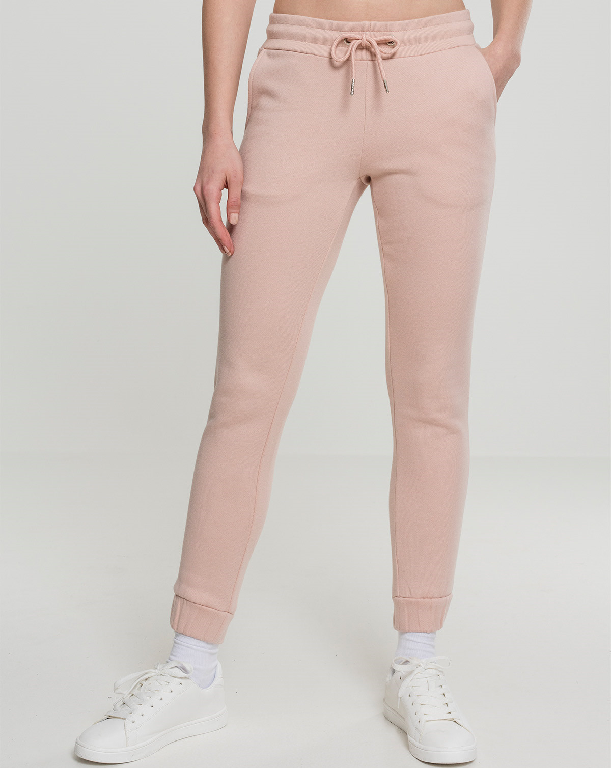 Urban Classics Ladies Sweatpants (Light Rose, XS)