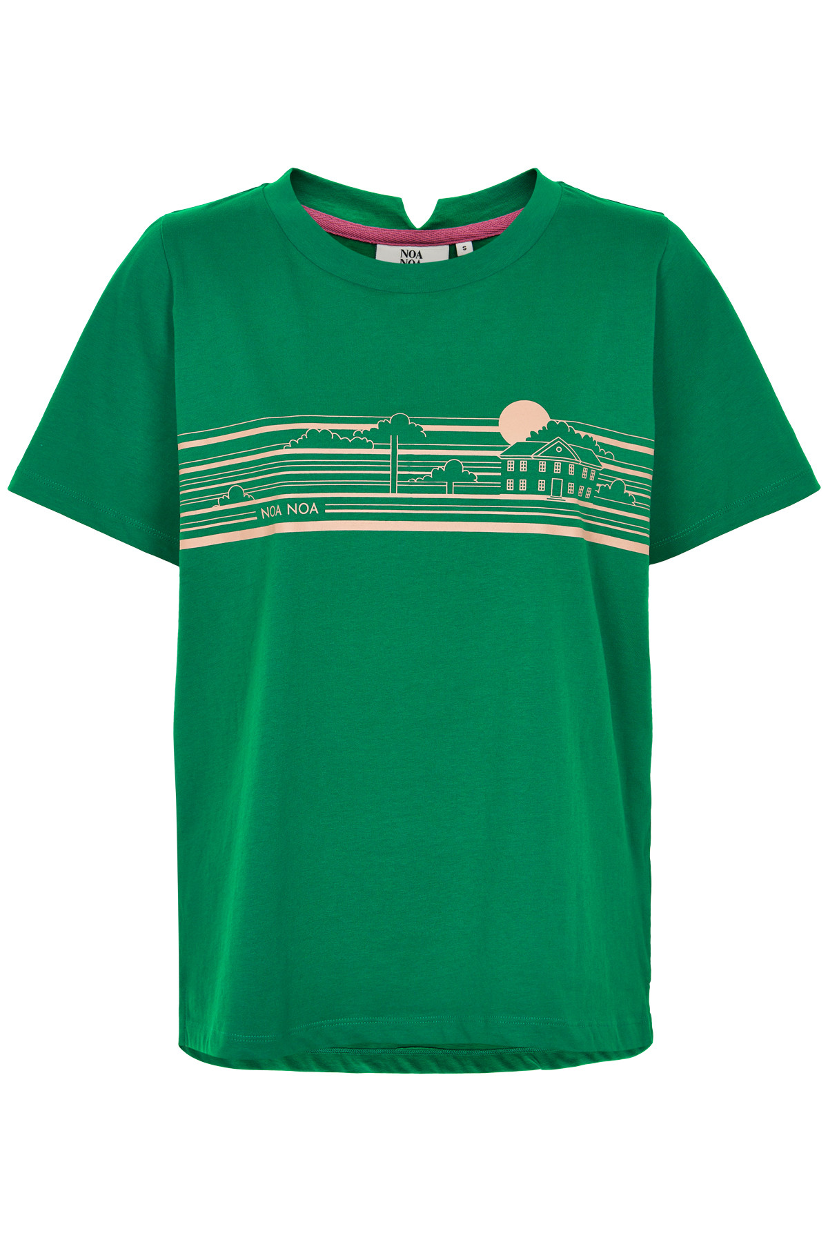 NOA NOA T-SHIRT 1-9849-1 00467 (Green, XS)