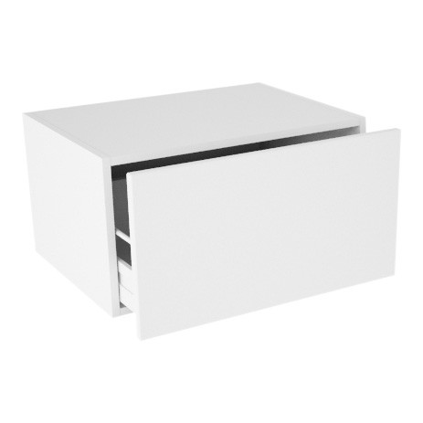 Image of   Ekstra lavt vaskeskab til badeværelset med skuffe og udskæring H: 32 cm