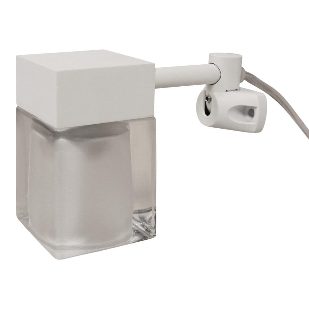 Image of   Cube spejllampe i hvid