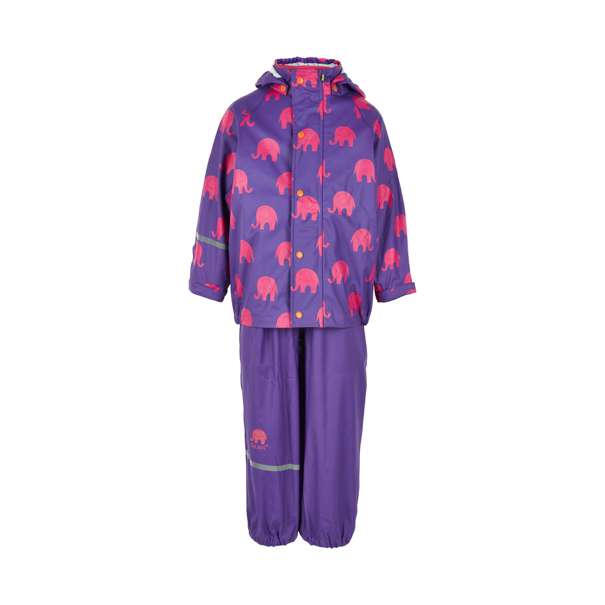 Celavi Unisex Suit W Elephant Print Raincoat