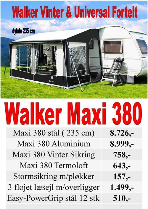 Walker Maxi 380 Universal Vinter fortelt